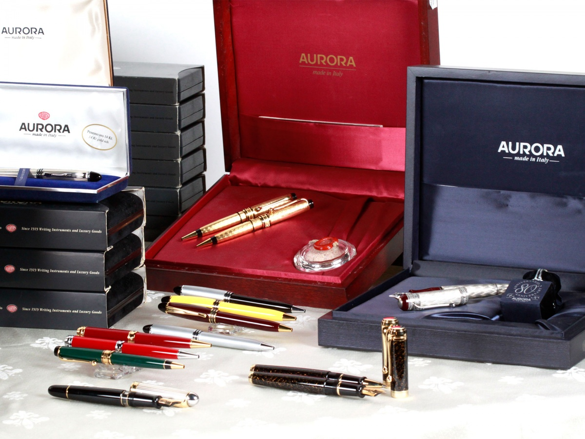 Set of Aurora Fountain Pens