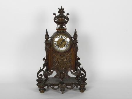 19th Century Bronze Mantel Clock - IB00025