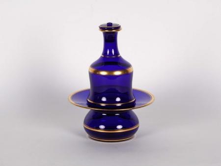 19th Century Blue Carafe Set - IB00036