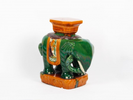 Large Ceramic Elephant Sculpture - IB00038