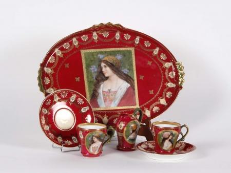 """Austrian """"Tête à Tête"""" Porcelain Tea Set - IB00074"""