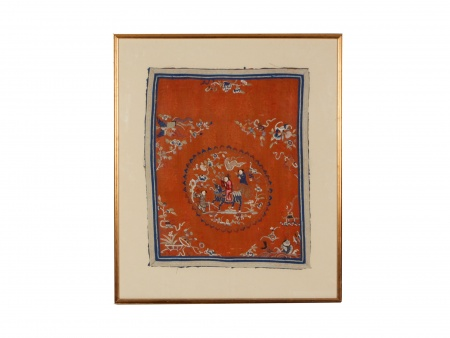 Chinese Embroidery on Silk 18th Century - IB00360