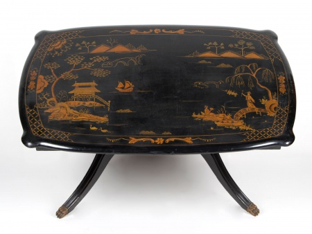 English Coffee Table with Chinese Ornaments - IB00508