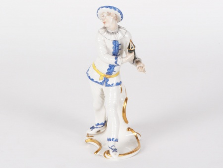 Nymphenburg Porcelain Pierrot Figurine - IB00527
