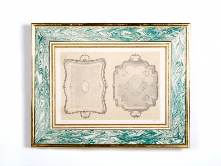 Lithograph of 18th Century Platters - IB00577
