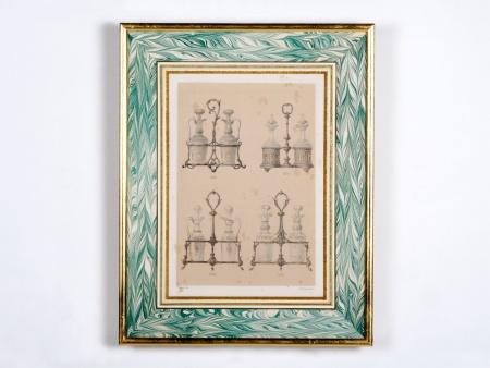 Lithograph of 18th Century Oil Decanter Holders - IB00579