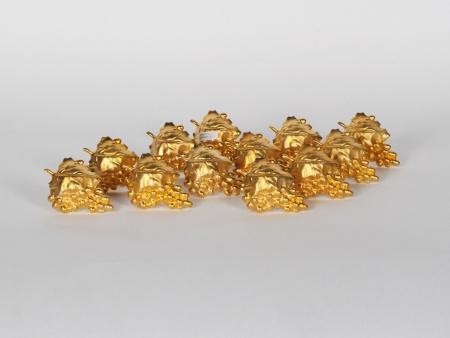 Neiman Marcus Napkin Rings in Golden Metal - IB00697