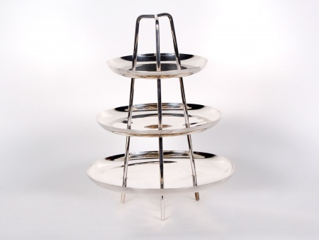 Silver Plated Metal Dumb-Waiter - IB00734