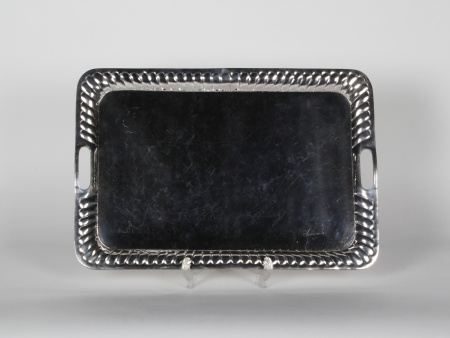 Tray in Silver Plated Metal - IB00749