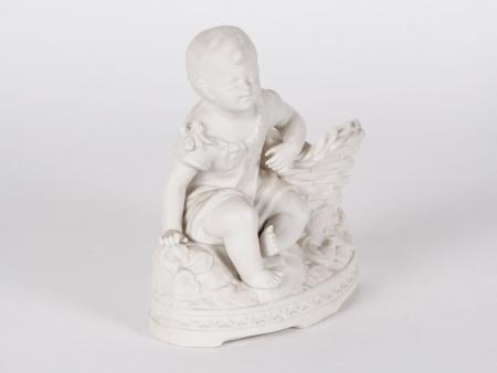 "Biscuit-Glazed Figurine: ""Jeune Enfant"" - IB00763"