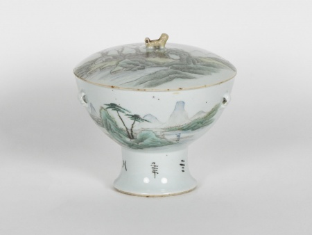 Chinese Covered Bowl on Pedestal - IB00765