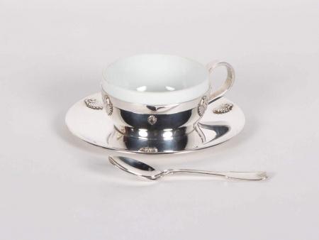 Saint Médard Silver Plated Metal Tea Cup - IB00806
