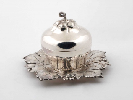 Silver Plated Metal Compote Jar - IB00855