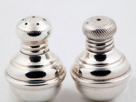 Pair of Sterling Silver Salt and Pepper Shakers - IB00857