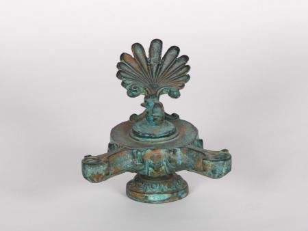 Greek Style Bronze Oil Lamp - IB00897