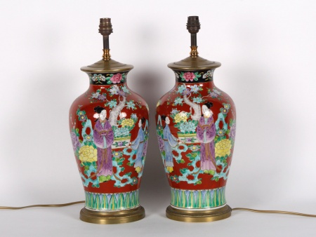 Pair of Chinese Porcelain Lamp Bases - IB01043