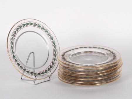 Eight Crystal Bread Plates - IB01049