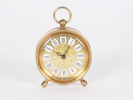 Marc Solo Gilded Metal Clock - IB01059