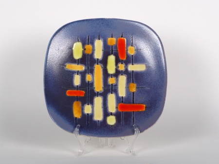 Guy Trevoux Plate in Painted Ceramic - IB01061