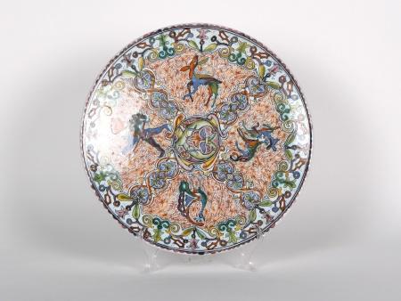 Conimbriga Platter in Hand Painted Ceramic - IB01063