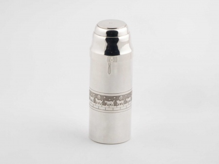 Silver Plated Metal Cylindrical Shaker - IB01083