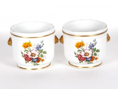 """Pair of Porcelain """"Demi Rafraichissoirs"""" - IB01109"""