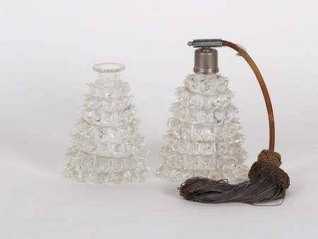 Set of Two Crystal Flasks - IB01132