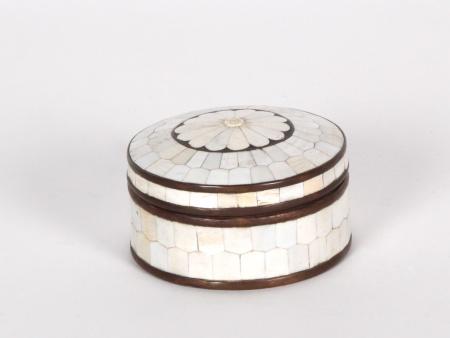Box in Copper and Bakelite Stones - IB01164