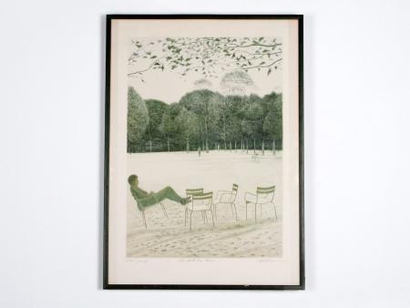 "Harold Altman: ""Man with Five Chairs"" - IB01185"