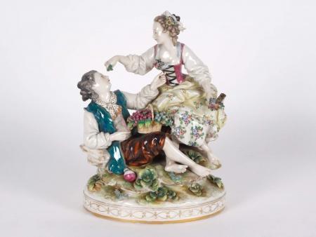 """Dresden Porcelain Group """"Couple aux Vendanges"""" - IB01314"""