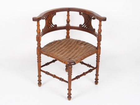Walnut Wood George II Armchair - IB01373