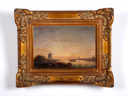 Dutch Oil on Canvas 1860 - IB01500