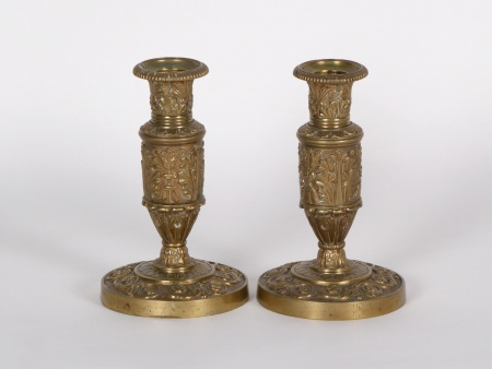 Pair of Gilded Bronze Candlesticks - IB01553