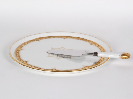 Maison Daillet Cake Plate in Limoges Porcelain - IB01557