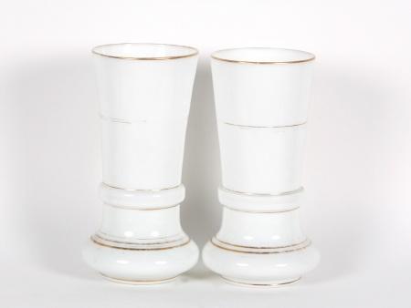 Pair of Charles X Vases in Opaline Crystal - IB01562