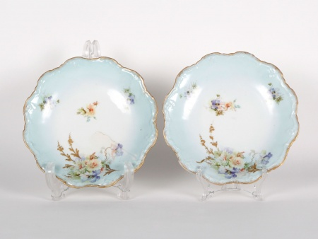 Pair of Antiques Limoges Plates - IB01675