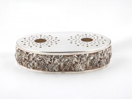 Topazio Silver Plated Metal Hotplate - IB01683