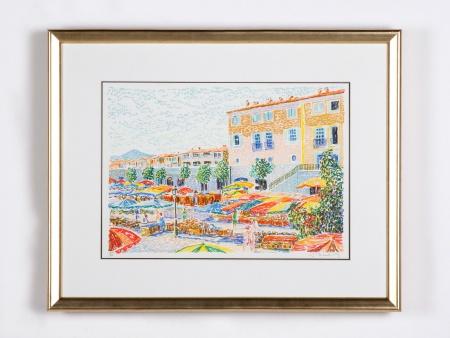 """Serge Mendgisky: """"Port Grimaud"""" - IB01698"""