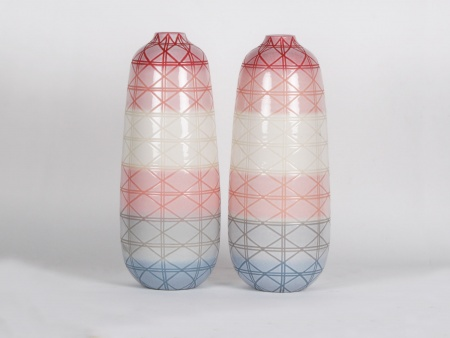Pair of Large Modern Ceramic Vases - IB01820