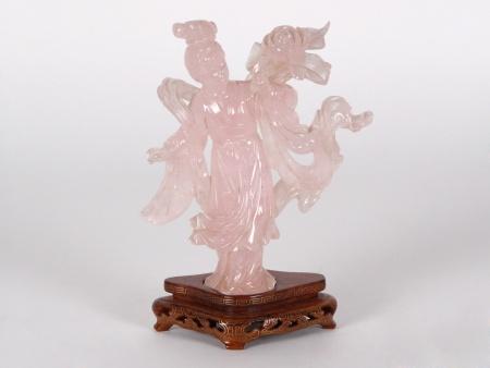 Chinese Sculpture in Pink Quartz - IB01844
