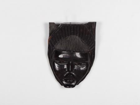 African Mask in Ebony Wood - IB01847