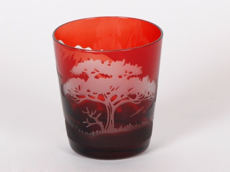 Pols Potten Engraved Red Tumbler Glass - IB01860
