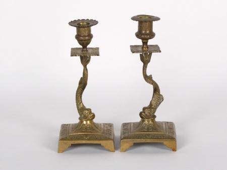 Pair of 19th Century Bronze Candlesticks - IB01872