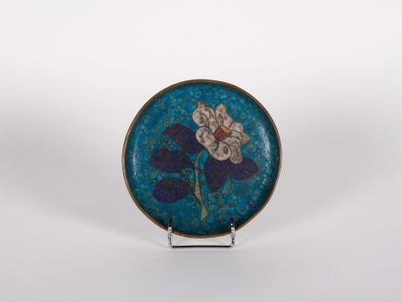 Small 18th Century Cloisonné Enamel Plate - IB01875