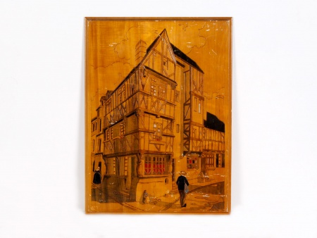Pyrography: Typical Alsatian Building - IB02003