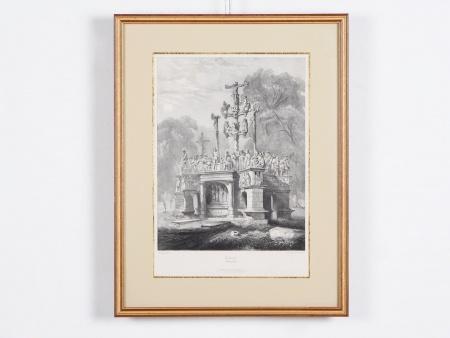 """Rouargue Engraving: """"Calvaire de Pougastel"""" - IB02010"""