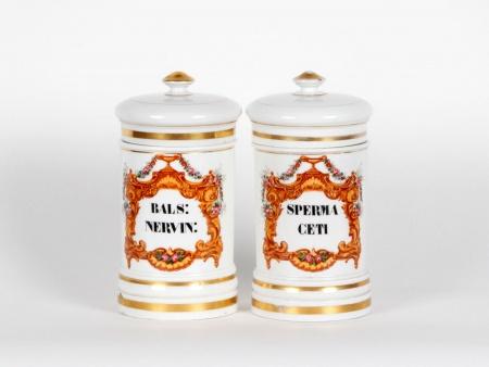 Pair of Pharmaceutical Fontemoing & Peigney Jars - IB02112