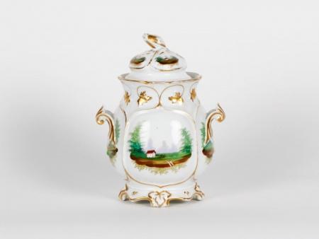 Porcelain Covered Jar - IB02127