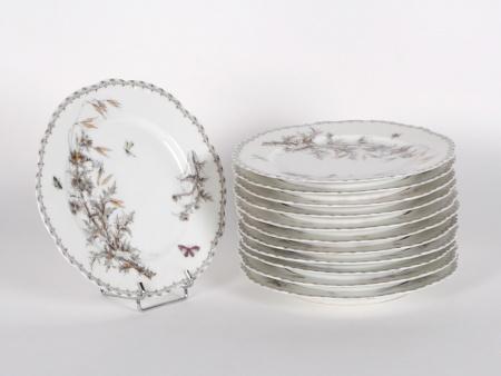 Twelve Clain Porcelain Plates - IB02181
