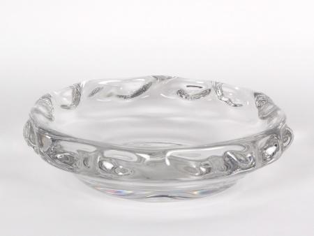 Round Daum Crystal Cut Centerpiece - IB02282